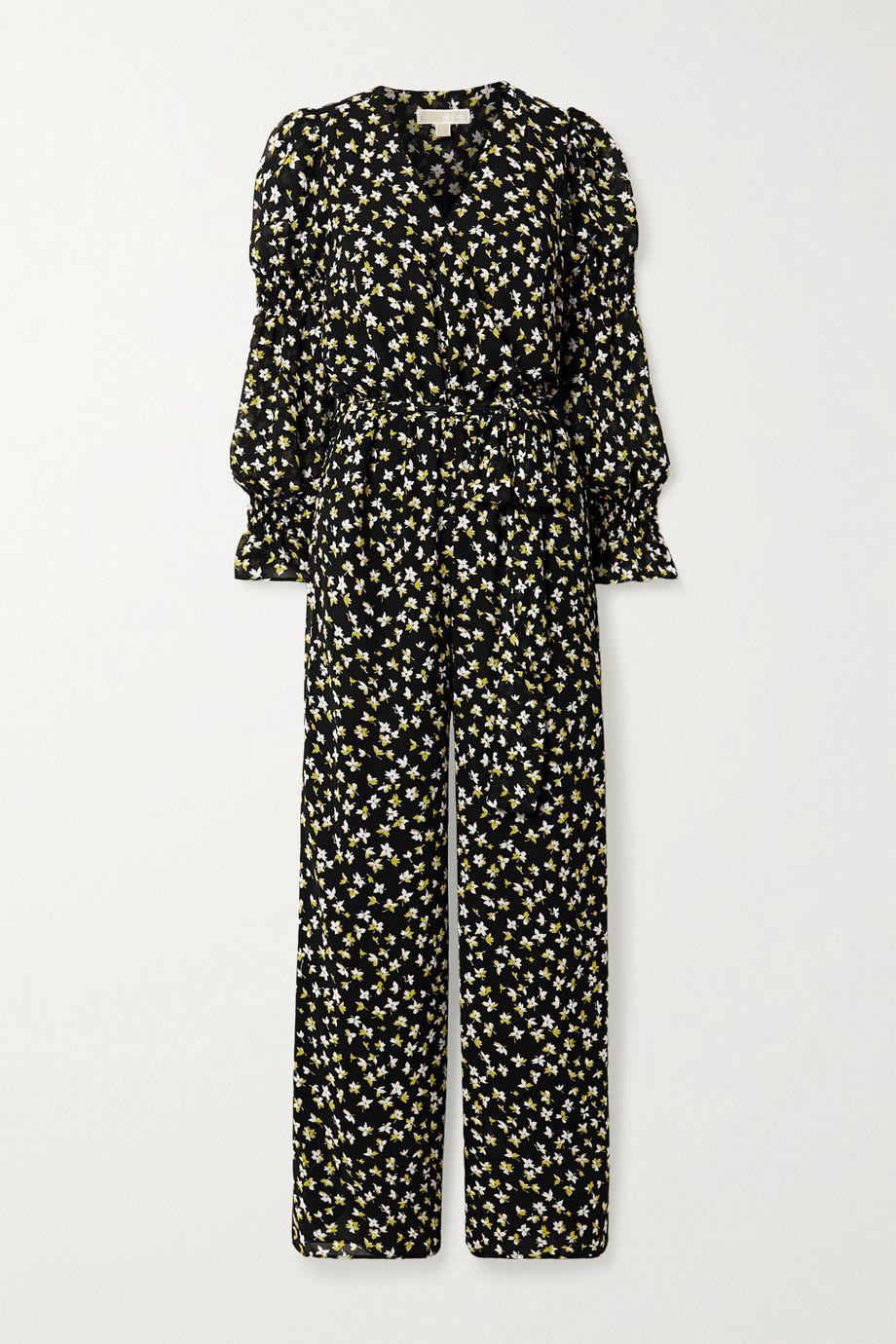 MICHAEL Michael Kors Lilli wrap-effect floral-print chiffon jumpsuit