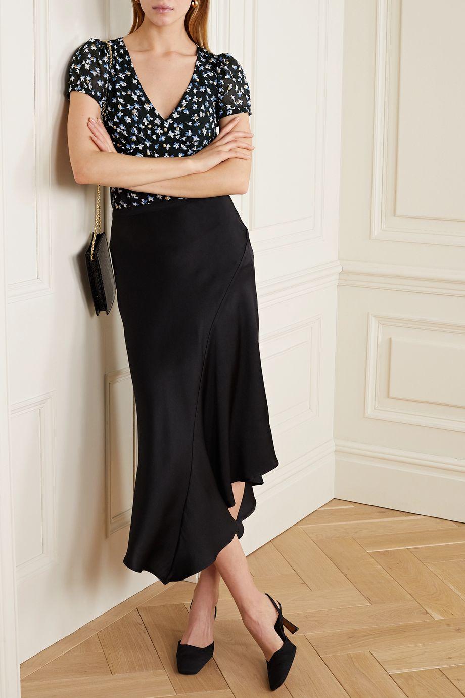 MICHAEL Michael Kors Studded floral-print crepe blouse