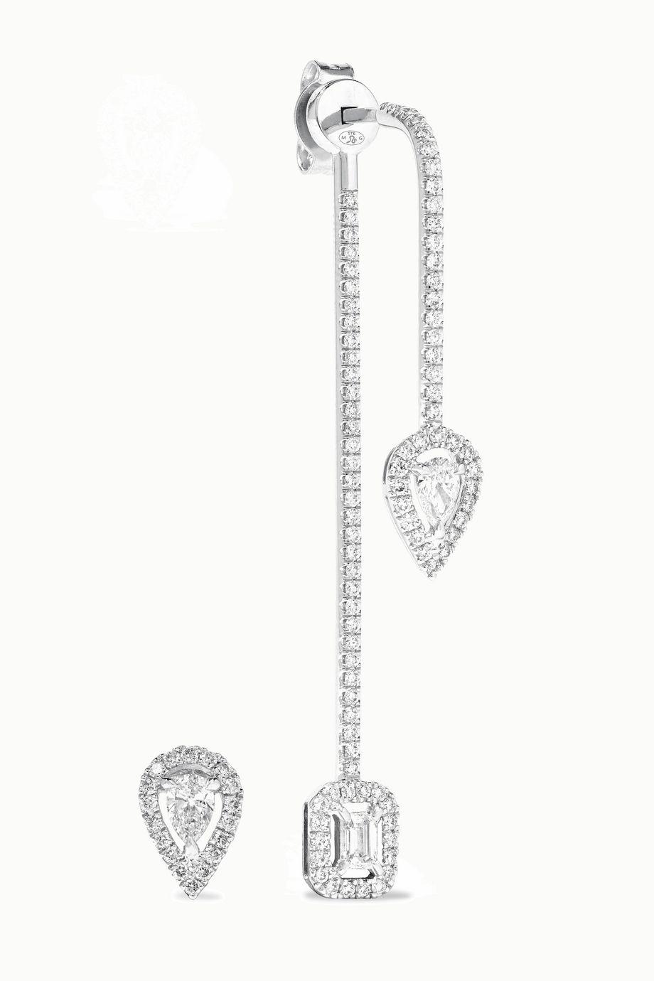 Messika My Twin 18-karat white gold diamond earrings