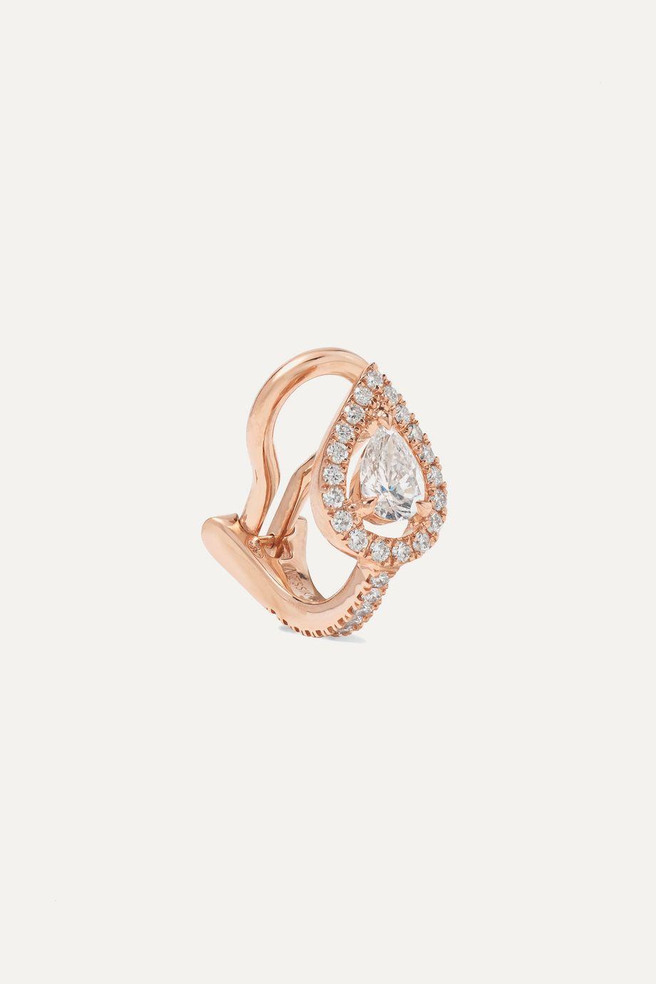 Messika My Twin 18-karat rose gold diamond ear cuff