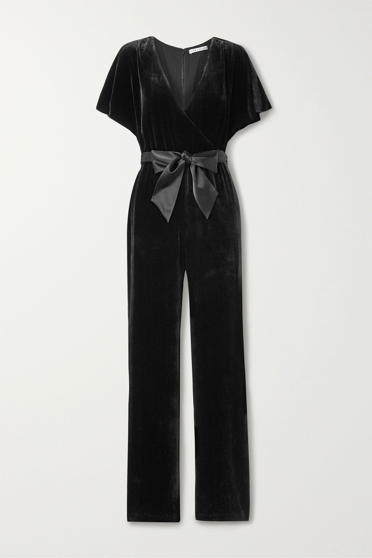 Oversized Black and White Ruffled Jumpsuit
