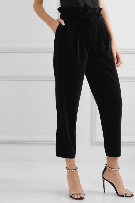 Farrel oversized belted velvet pants