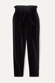 Farrel oversized belted velvet pants