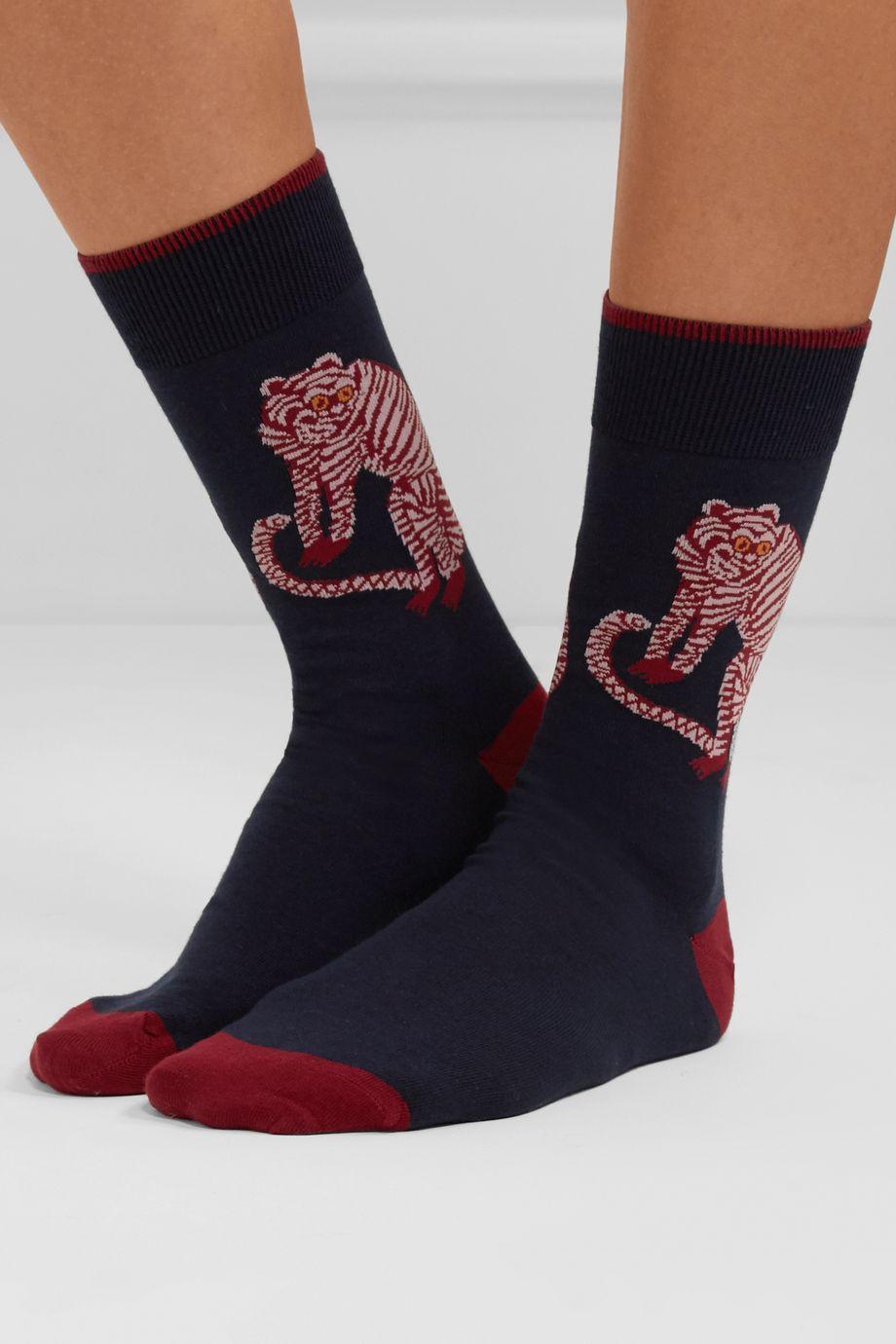 Desmond & Dempsey Mexico set of three cotton-blend socks