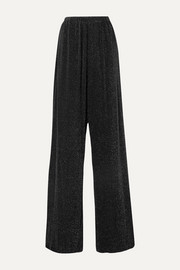 Balenciaga Metallic stretch-jersey wide-leg pants