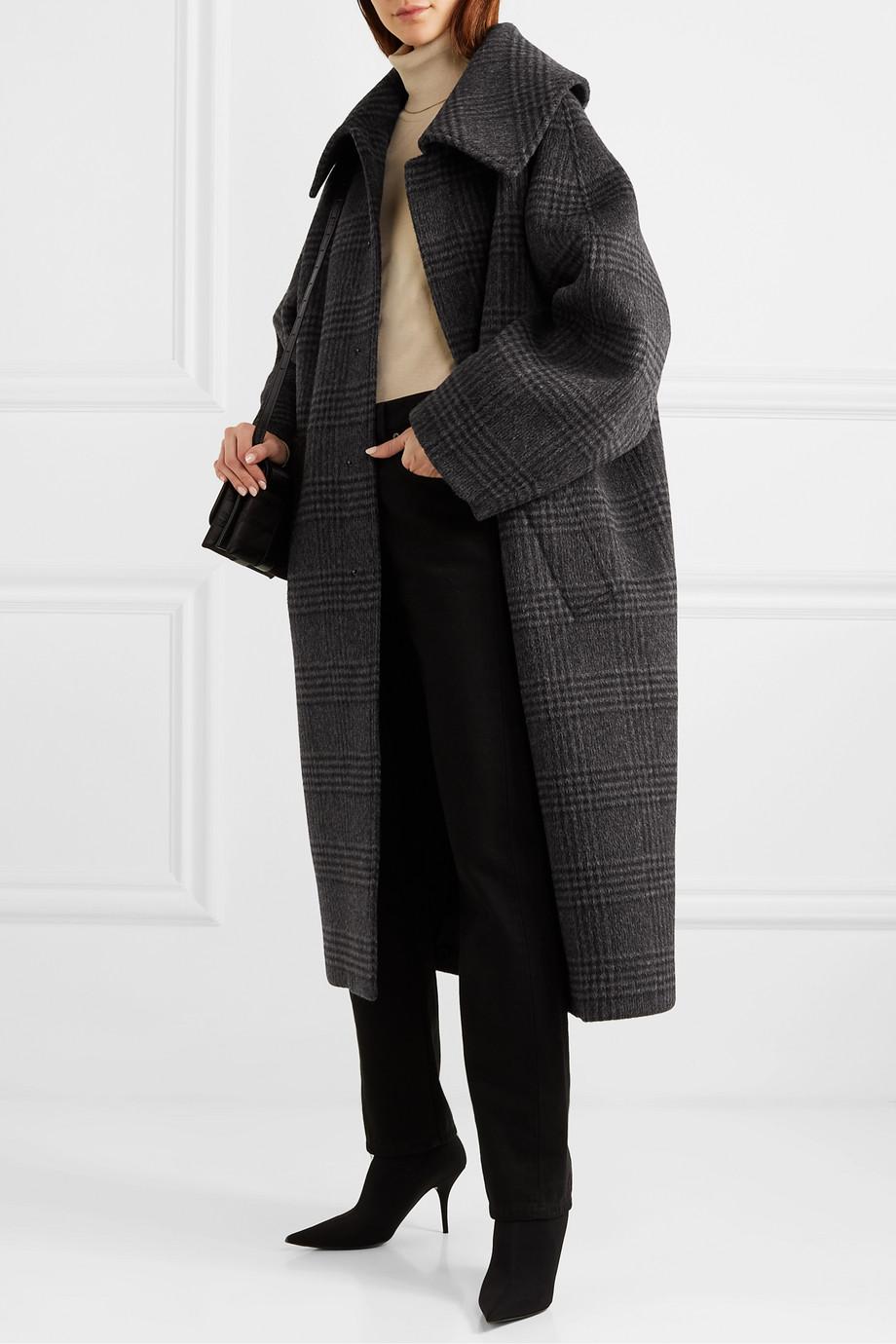 Balenciaga Incognito Prince of Wales checked wool-blend coat