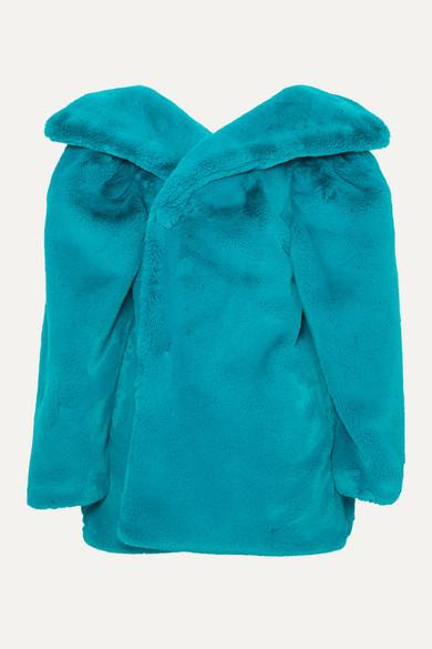 Balenciaga Coats Oversized faux fur jacket