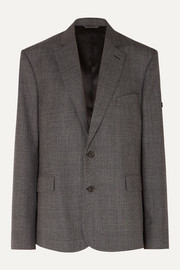 Balenciaga Prince of Wales checked wool blazer