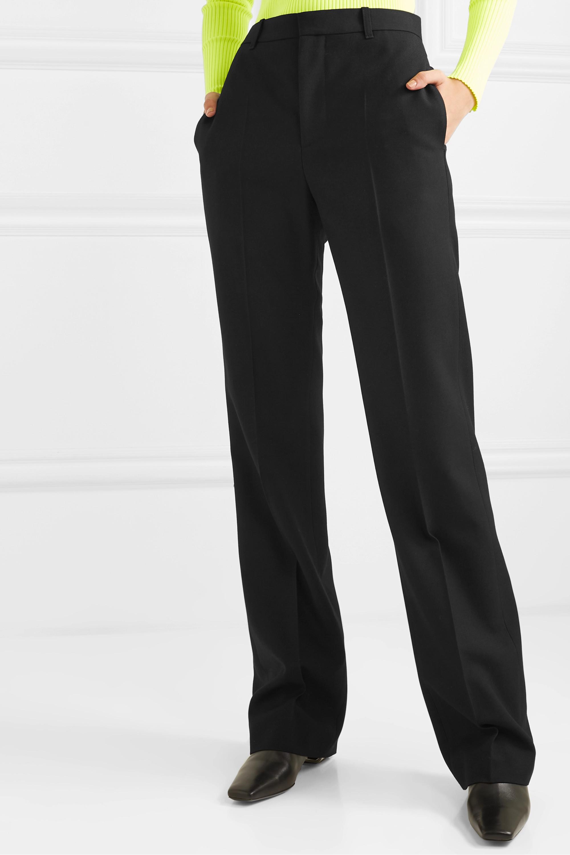 Balenciaga Hose mit geradem Bein aus Wollgabardine