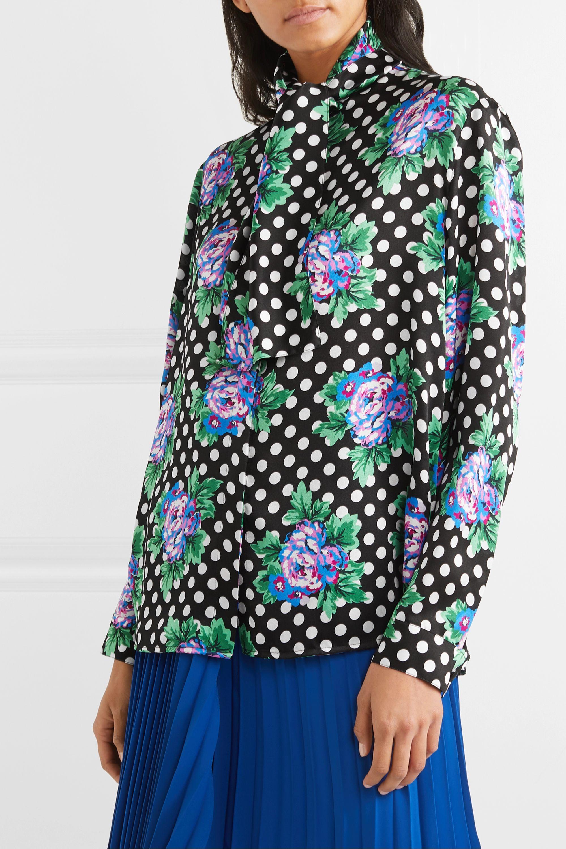 Balenciaga Schluppenbluse aus bedrucktem Seiden-Twill