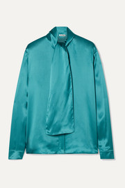 Balenciaga Silk-satin blouse