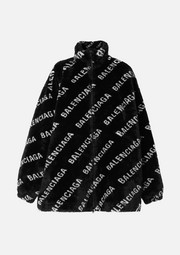 Balenciaga Printed faux fur jacket