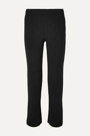 Balenciaga Ribbed-knit straight-leg pants
