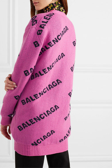 Balenciaga Knits Intarsia wool-blend cardigan