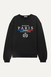 Balenciaga Embroidered cotton-jersey sweatshirt
