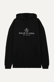 Balenciaga Oversized printed cotton-jersey hoodie