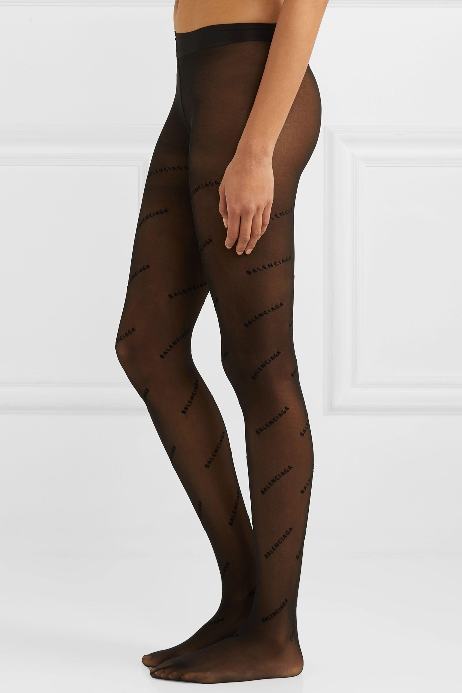 Balenciaga Flocked tights