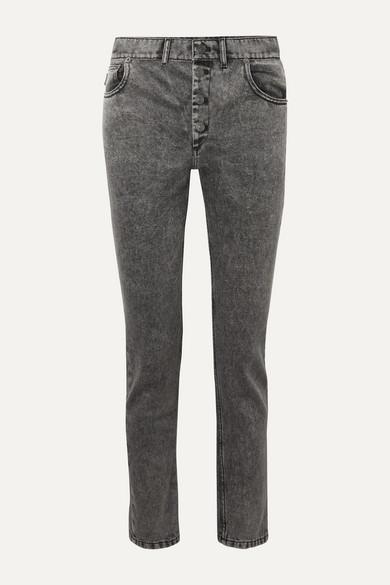 Balenciaga Jeans Acid-wash high-rise straight-leg jeans