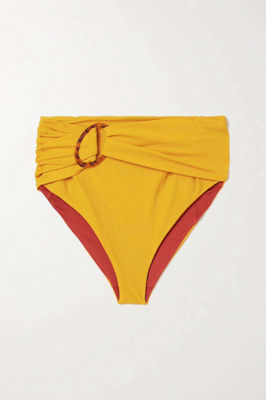 Johanna Ortiz Une Coquillage belted bikini briefs