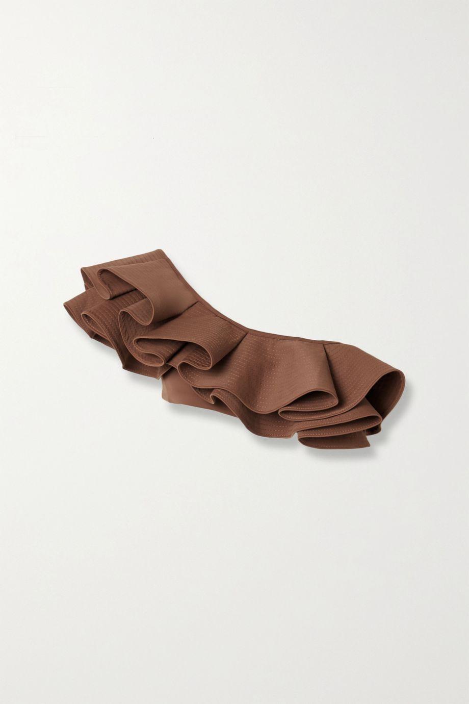 Johanna Ortiz Smell Of Coffee one-shoulder ruffled bikini top