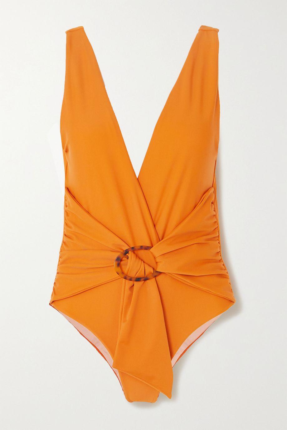 Johanna Ortiz Papaya Land belted swimsuit