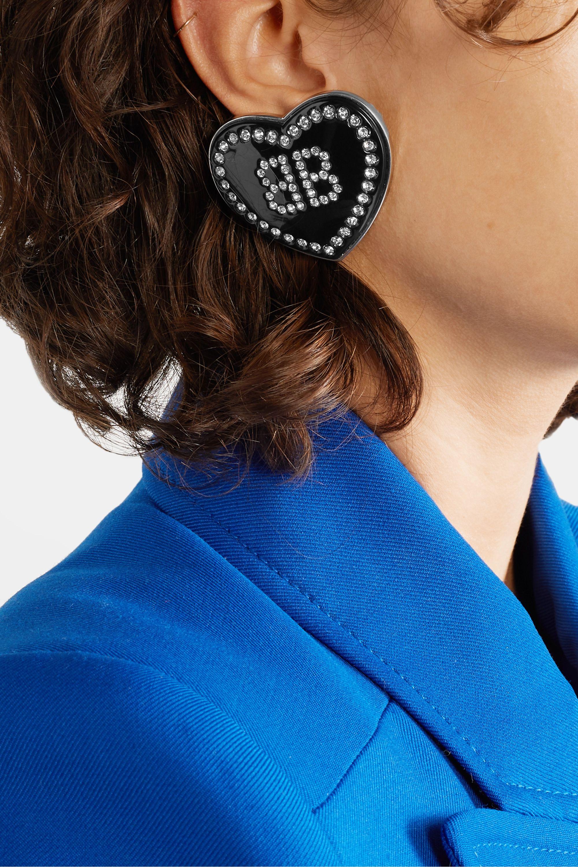Balenciaga Crush resin and crystal earrings