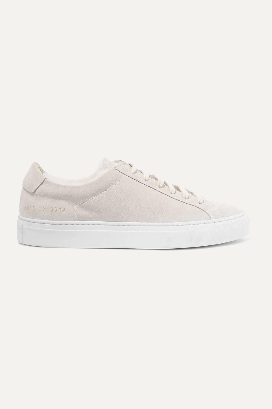 Retro Low shearling-lined suede sneakers by COMMON PROJECTS, available on net-a-porter.com for $282 Alessandra Ambrosio Shoes Exact Product