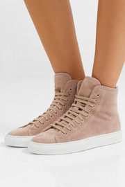 Tournament shearling-lined suede high-top sneakers