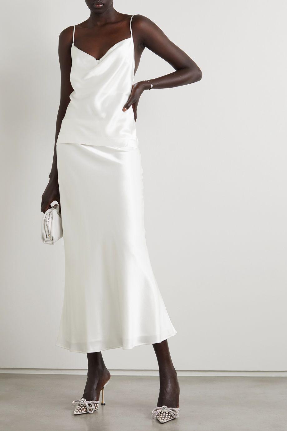 Galvan Valletta 缎布中长半身裙