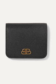 BB Compact textured-leather wallet