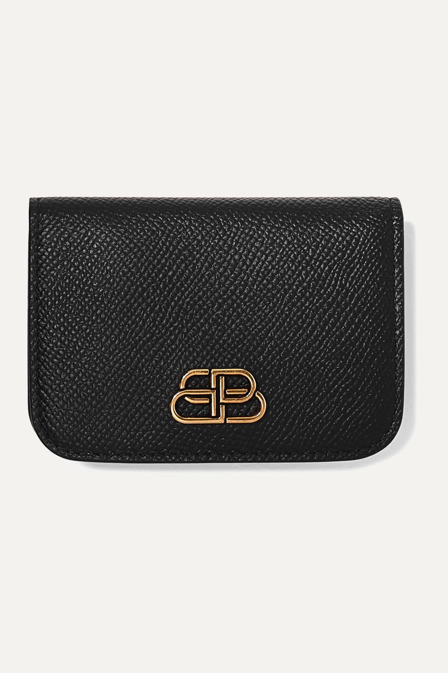 Balenciaga BB mini textured-leather wallet