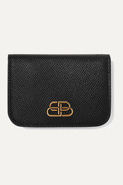 BB mini textured-leather wallet