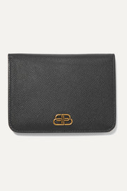 Balenciaga BB medium textured-leather wallet