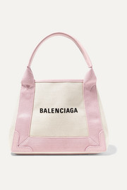 Balenciaga Cabas XS AJ leather-trimmed printed canvas tote
