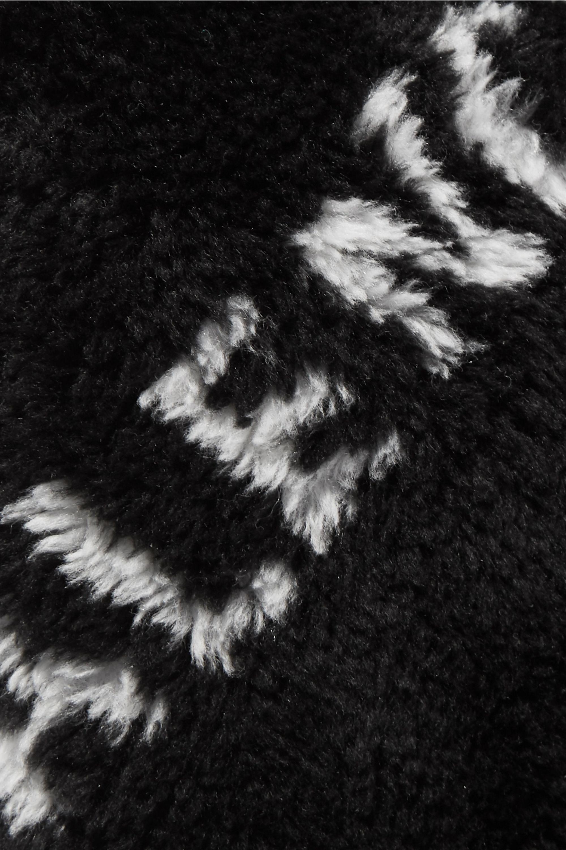 Balenciaga Sac à main en fourrure synthétique imprimée