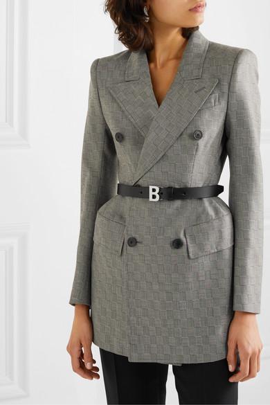 B Leather Waist Belt by Balenciaga