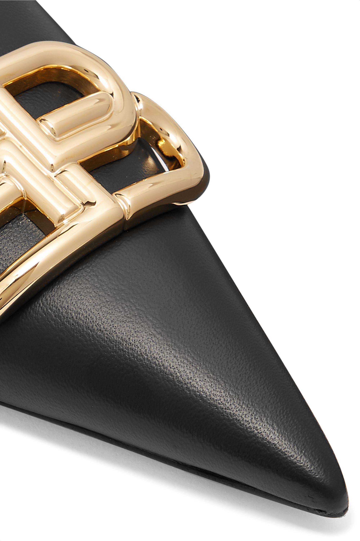 Balenciaga Knife logo-embellished leather mules