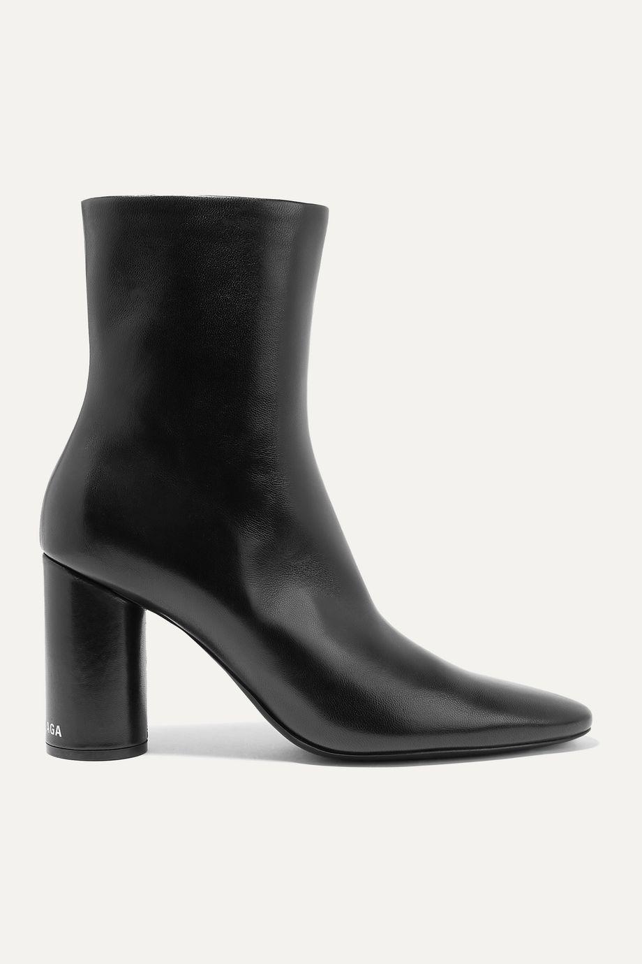 Balenciaga Oval leather ankle boots