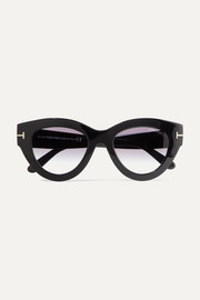TOM FORD Slater cat-eye acetate sunglasses