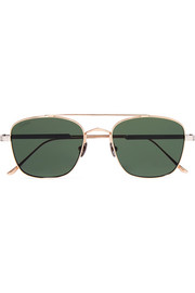 Cartier Eyewear Aviator-style gold and silver-tone sunglasses