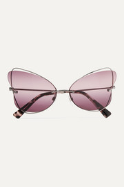 Valentino Garavani cat-eye silver-tone sunglasses