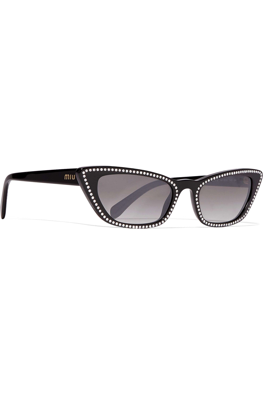Miu Miu Eyewear Cat-eye studded acetate sunglasses