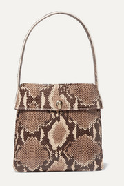 La Trio snake-effect leather tote