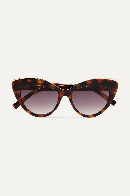 Le Specs Beautiful Stranger cat-eye tortoiseshell acetate and gold-tone sunglasses