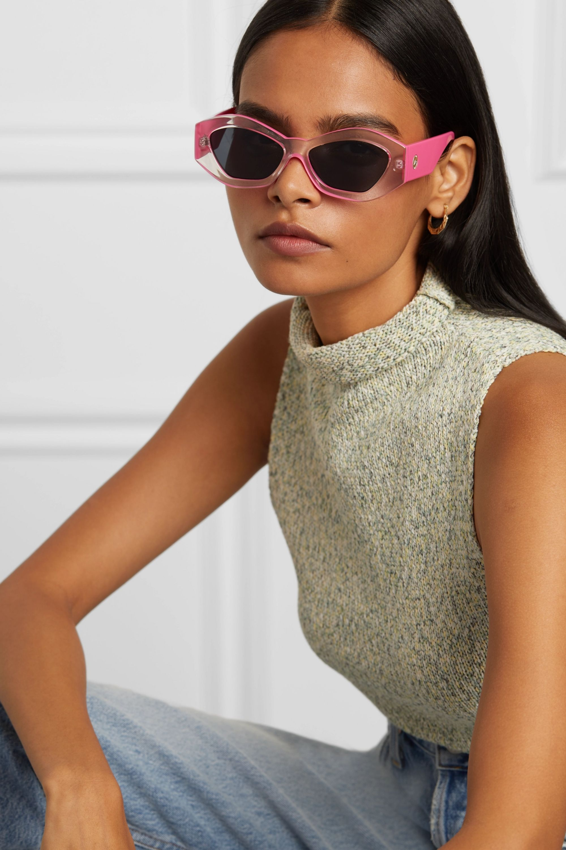 Le Specs The Ginchiest hexagon-frame acetate sunglasses