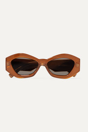 Le Specs The Ginchiest hexagon-frame acetate sunglasses