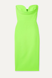 Corley strapless neon crepe dress