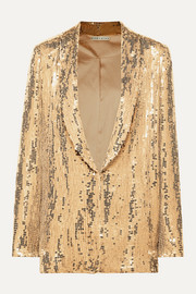Alice + Olivia Jace sequined tulle blazer