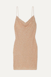 Alice + Olivia Harmie sequined stretch-tulle mini dress
