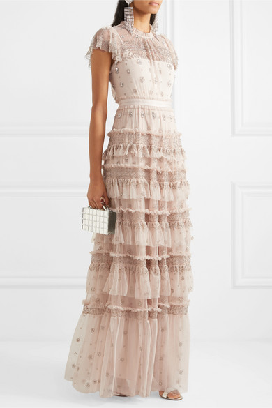Andromeda Embellished Tulle Gown by Needle & Thread